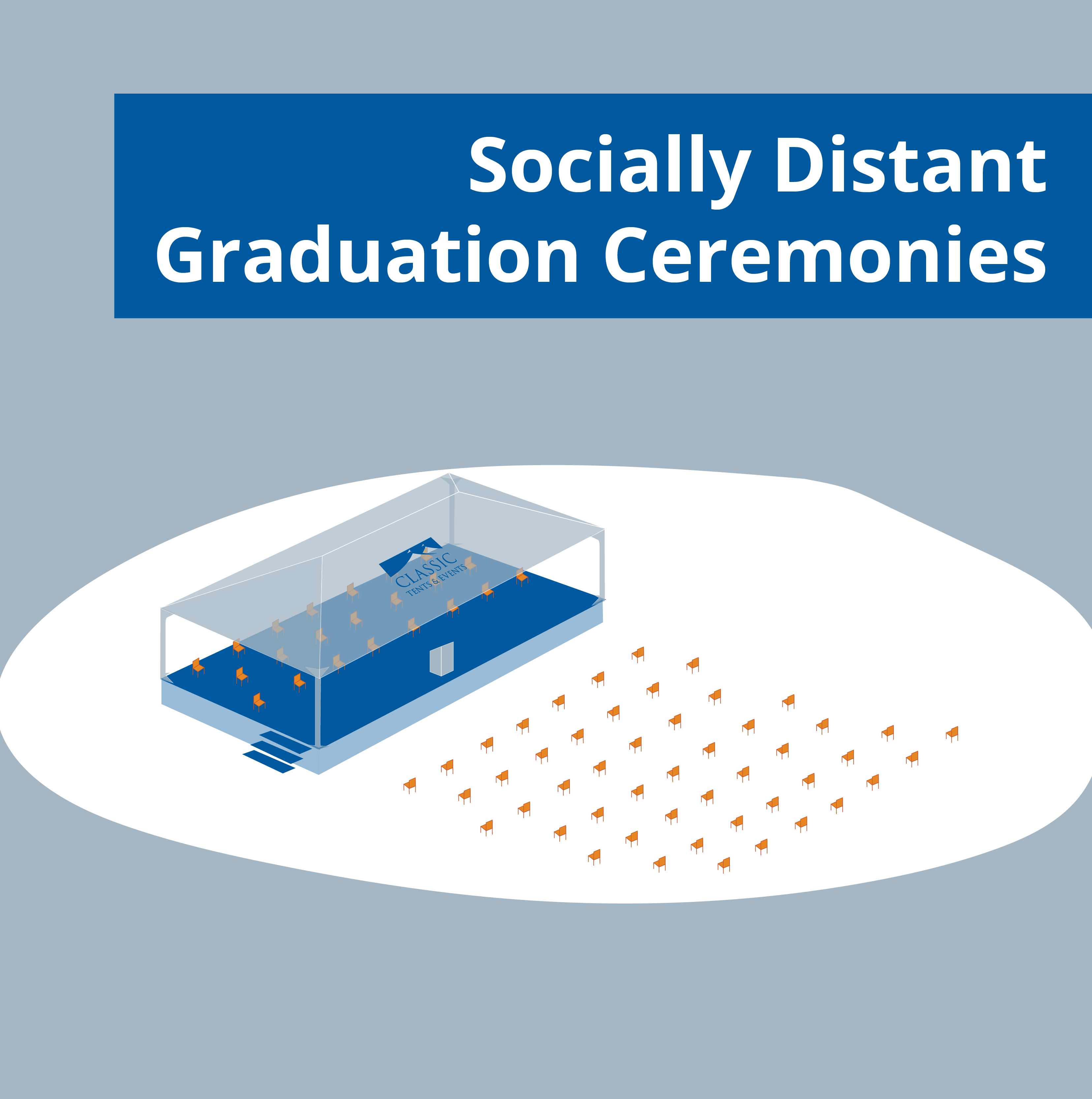 layout for social distant graduation ceremony