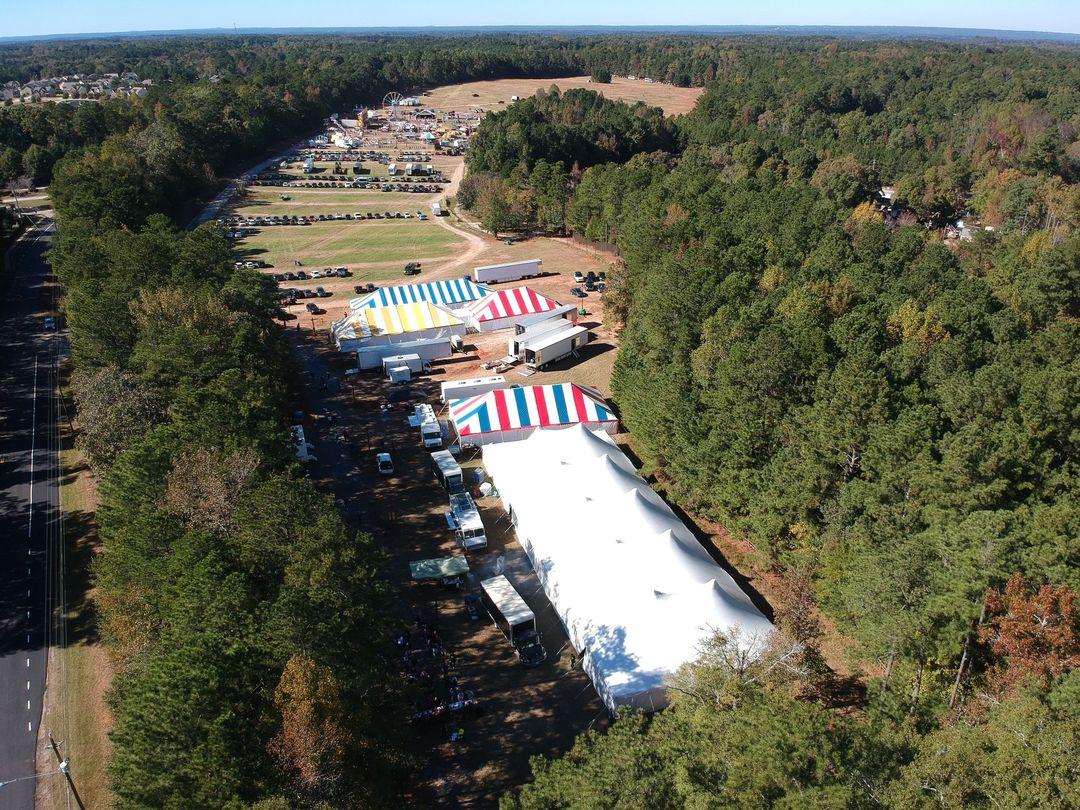 outdoor festival or fair tent rentals