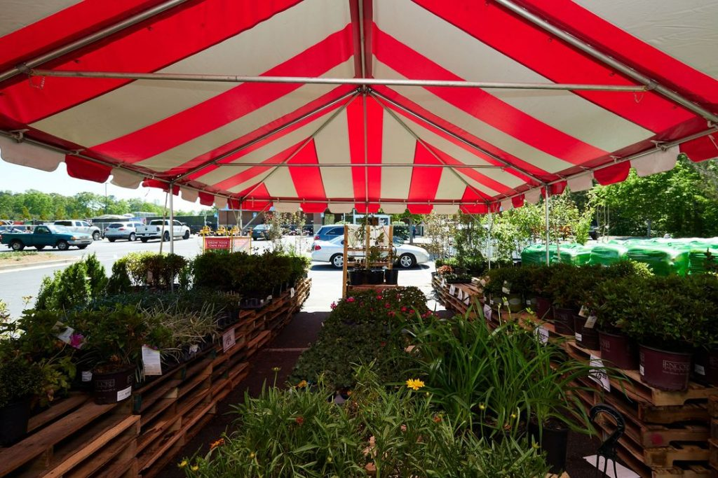 outdoor retail tent space