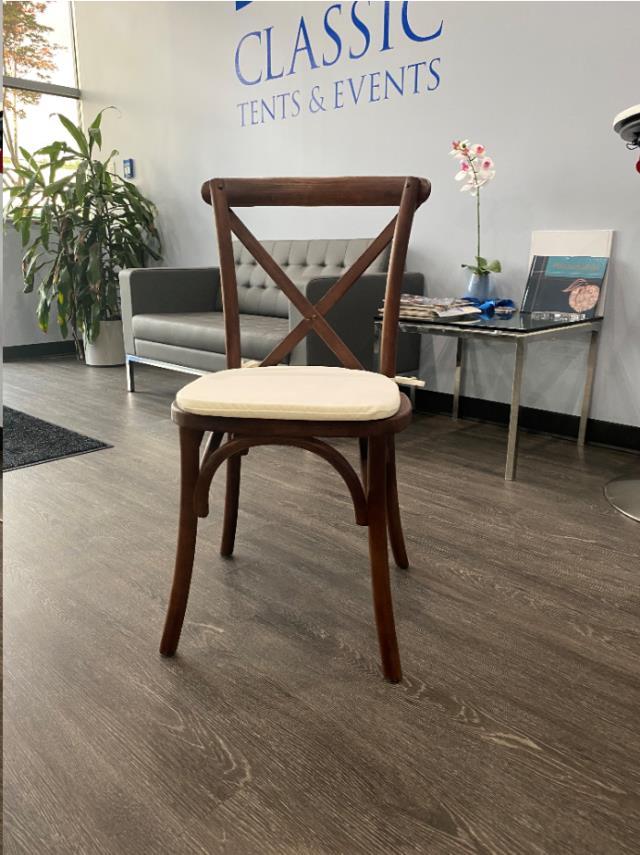 rustic crossback chair
