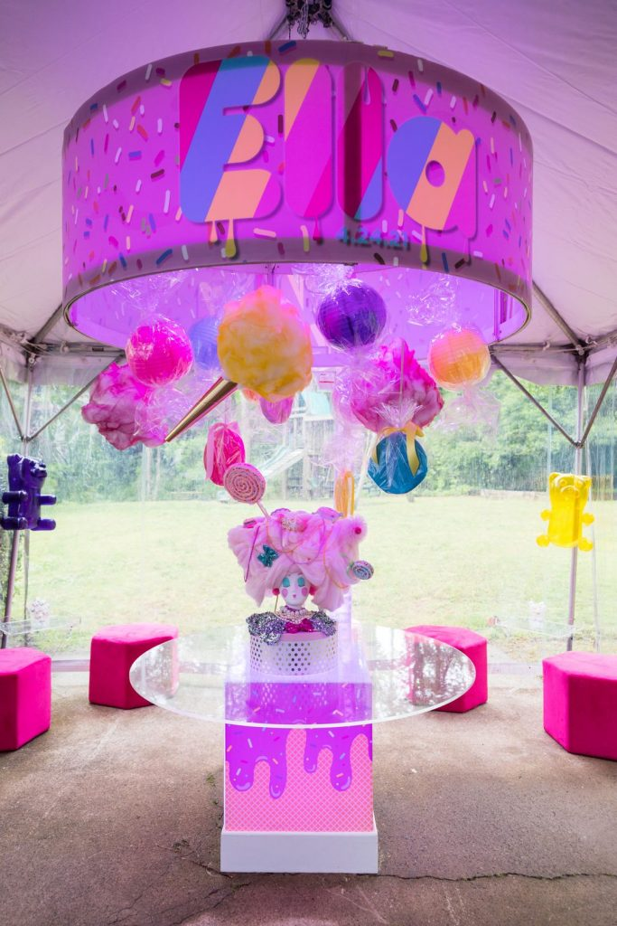 bubblegum-inspired backyard mitzvah