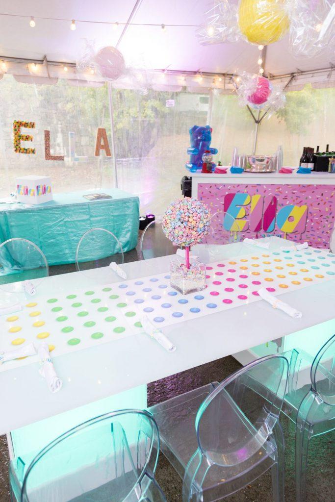 candy themed backyard birthday