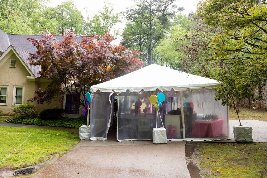 clear sided tent for rent