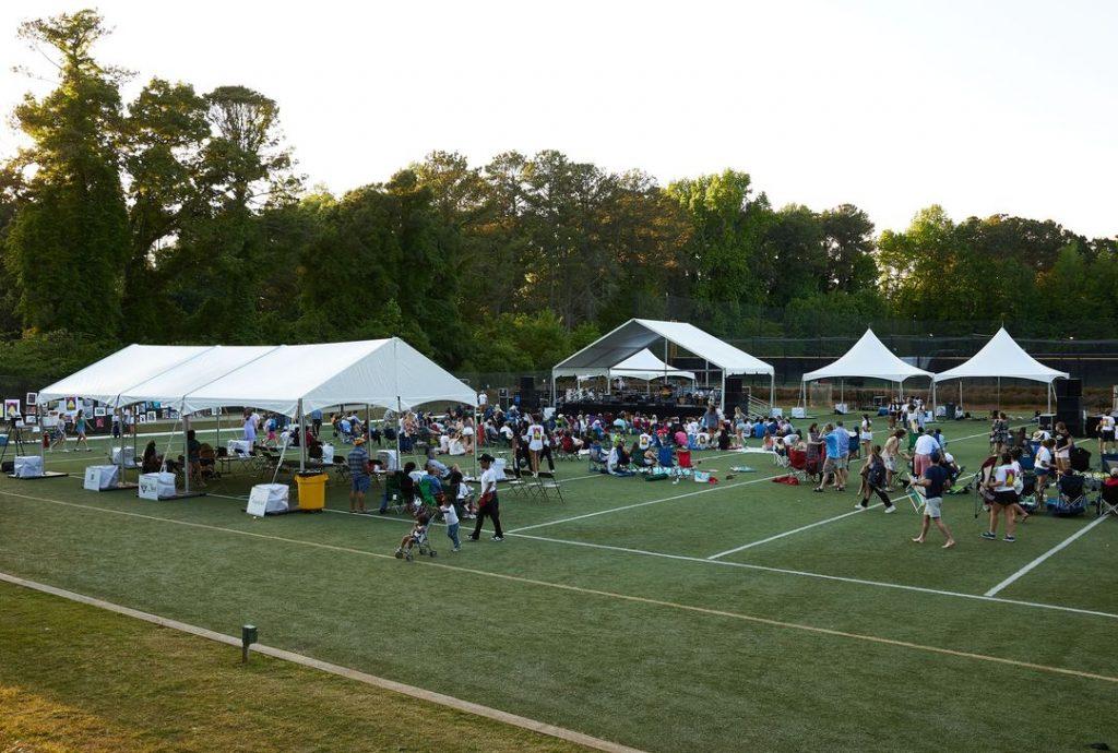 tents for outdoor concert food vendors