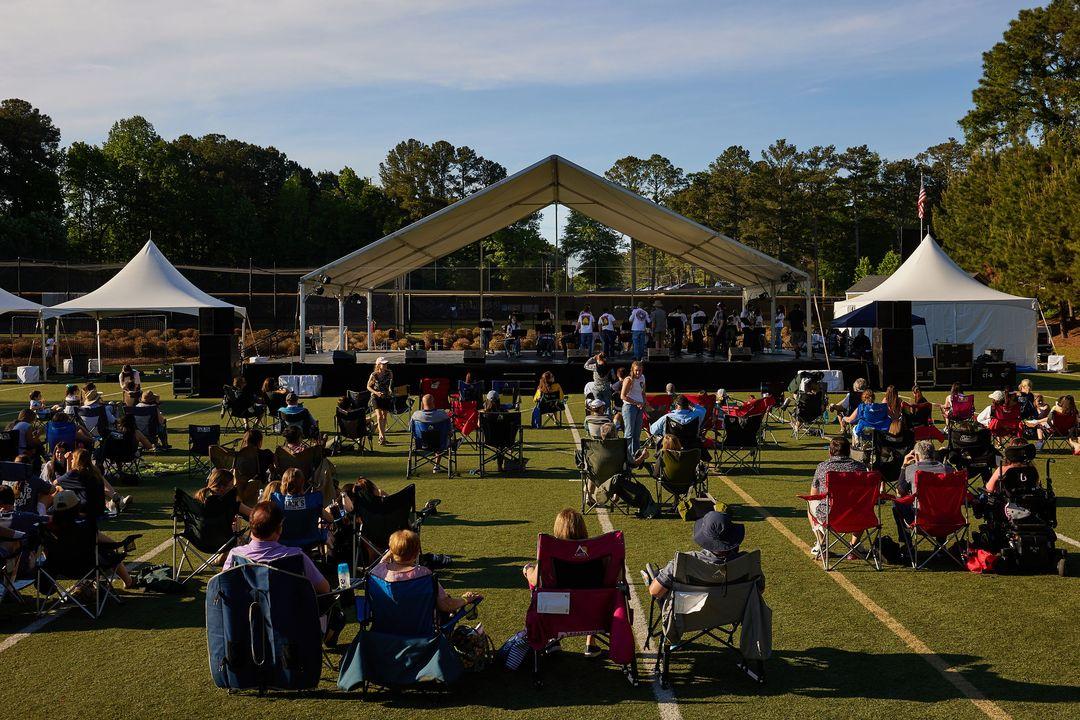 outdoor concert performance