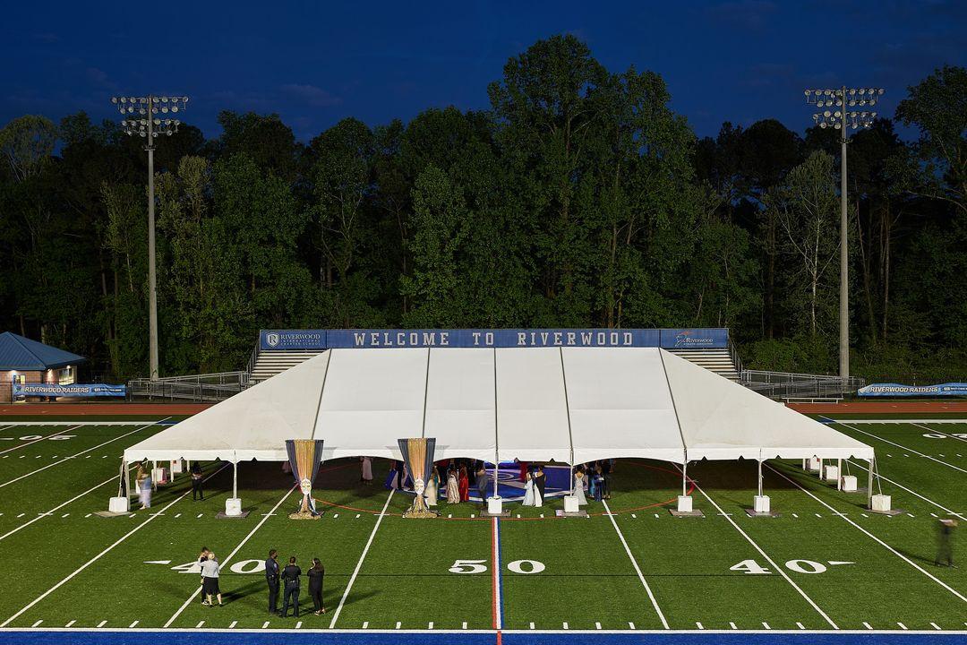 school dance tent